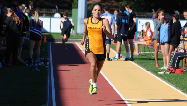 Rose Lovell competes in athletics