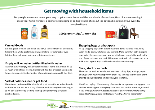 Get moving with household items 1