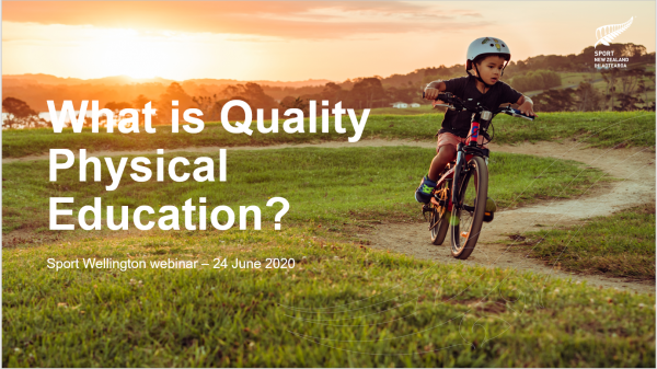 What is quality physical education powerpoint slide - boy on bike
